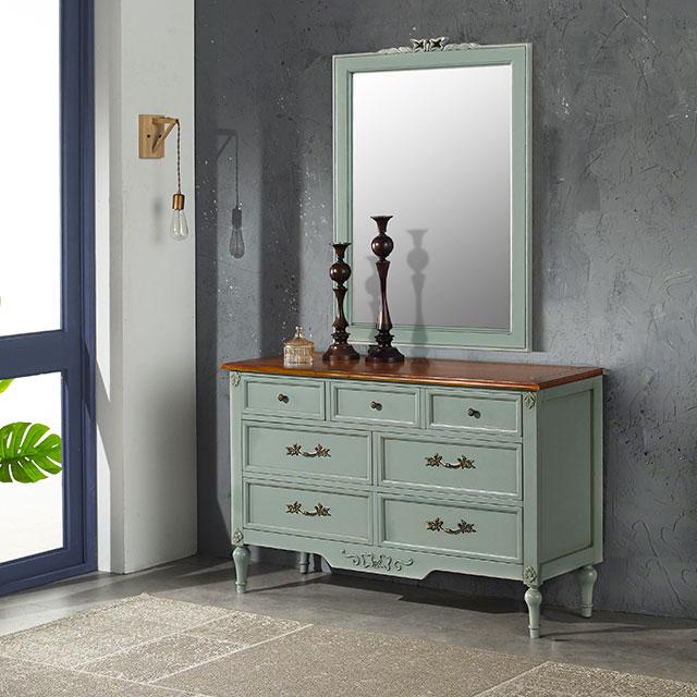 비샤 라이트그레이 화장대 거울세트