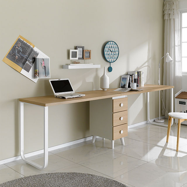 더블 2600 철제 책상세트 2컬러 ES256-2