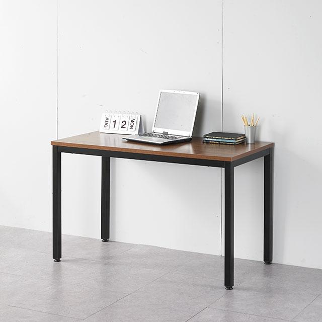루카 철제프레임 1200x600 일자형 책상 2컬러