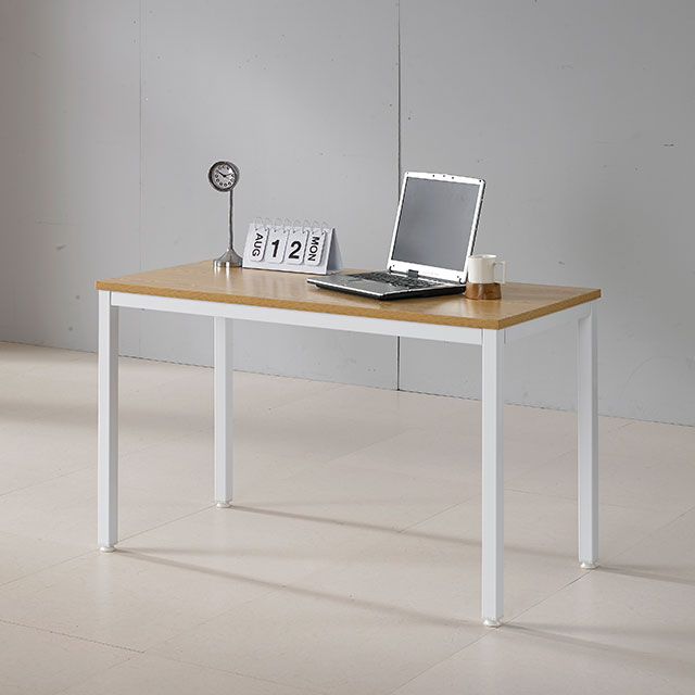 루카 철제프레임 1200x750 일자형 책상 2컬러