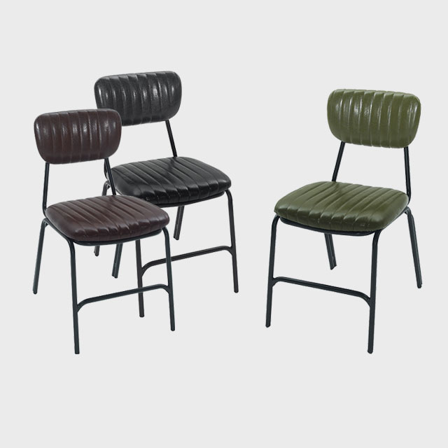 베그 철제 다용도 쌍줄 의자 3컬러