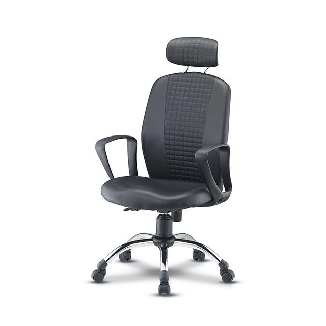 펠레 누빔 경추형 가죽 책상 의자 GC440-11