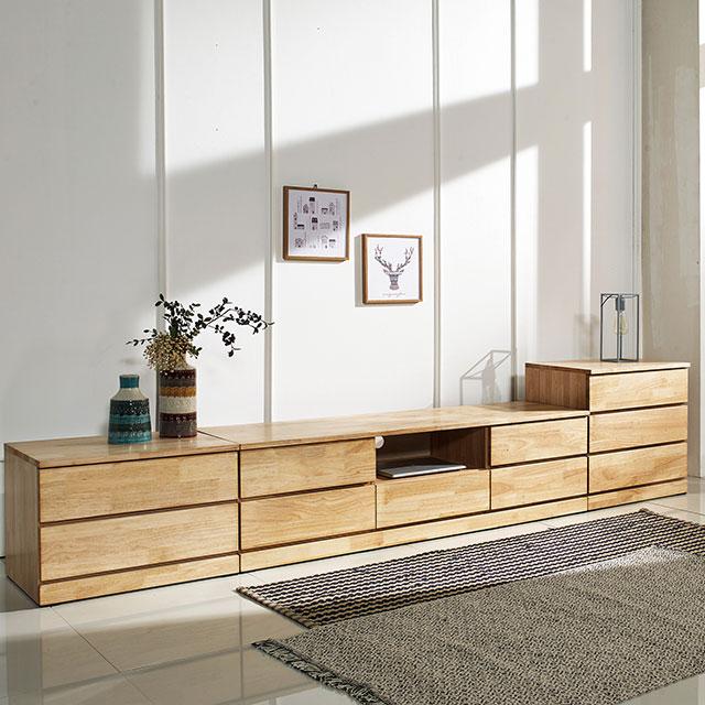 라인 고무나무원목 거실장세트 GD345-1