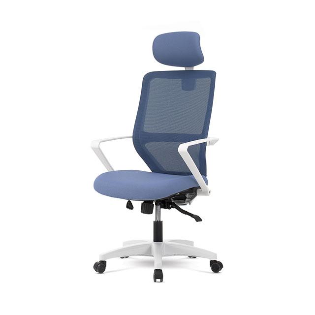 LF-500 모던 블루 메쉬 경추형 사무용 의자 GN498-1