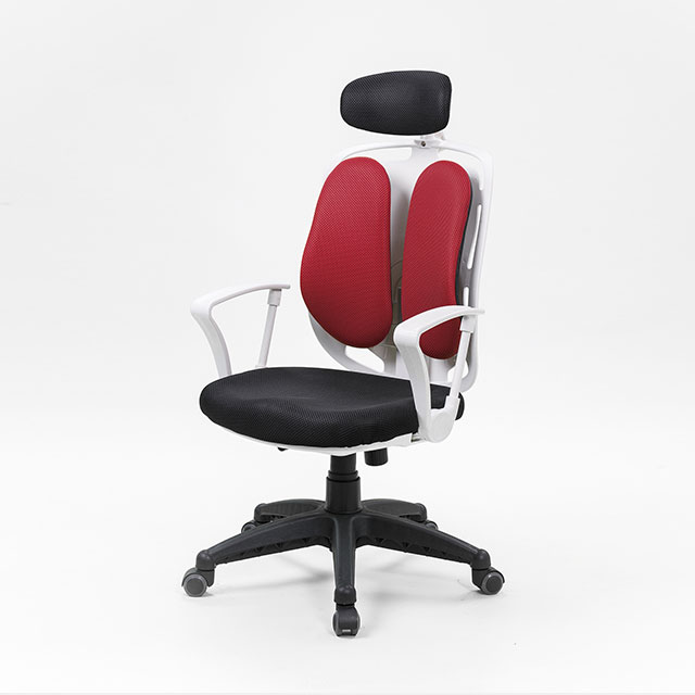 골드 패브릭 요추 더블 사무용 의자 (4컬러) GN504-9