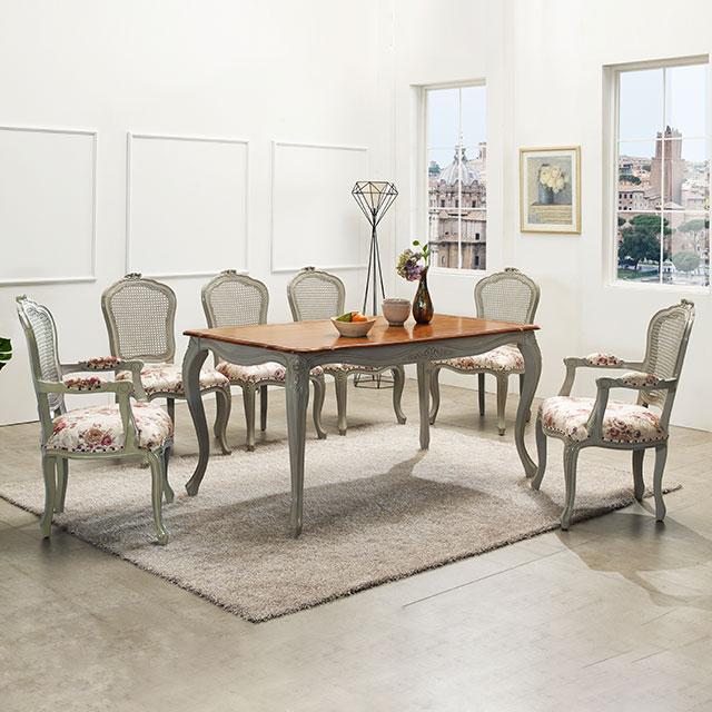 비샤 라이트그레이 원목 6인용 식탁세트