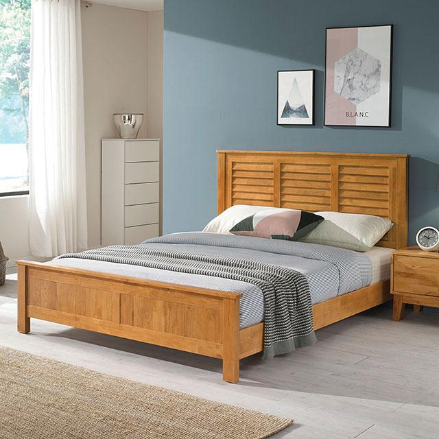베르디 A형 원목 퀸 침대 TE242-1