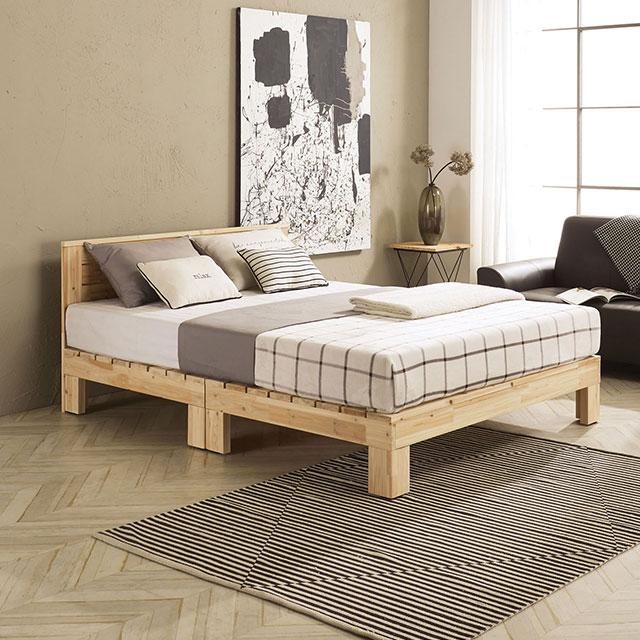 로미 헤드 삼나무 퀸 침대 TE245-1