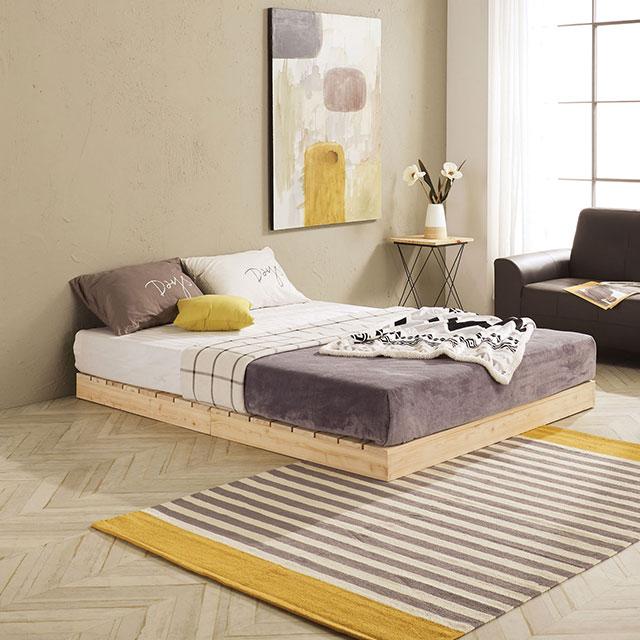 로미 저상형 편백나무 퀸 침대 TE252-1
