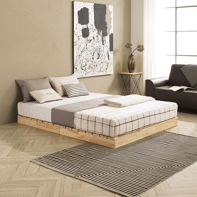 로미 저상형 삼나무 퀸 침대 TE252-2