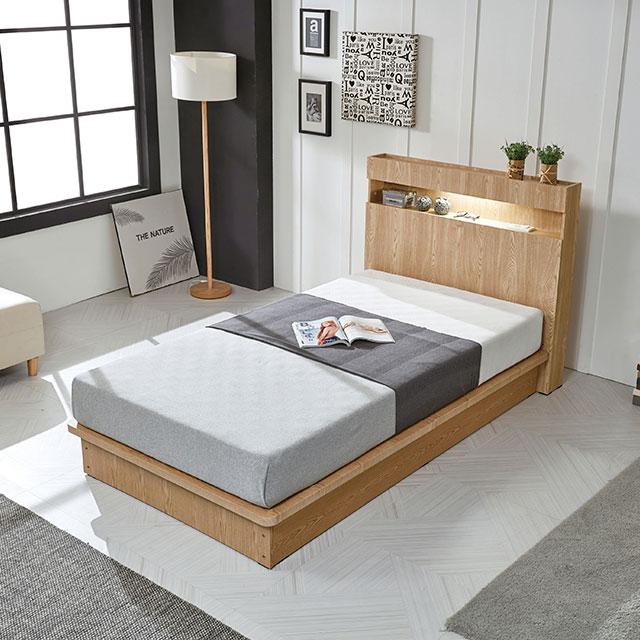 타임 통마루 조명 퀸 침대 TE257-1