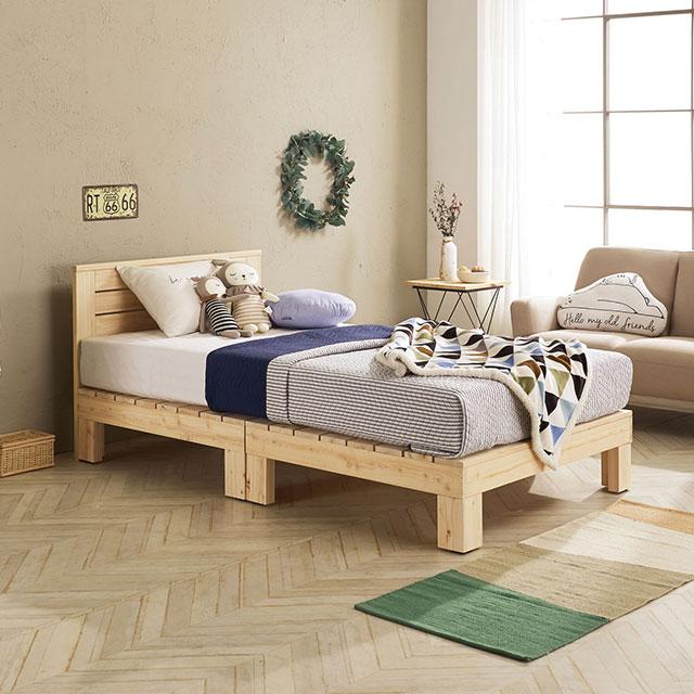 로미 머리판 편백나무 퀸 침대 TE264-1