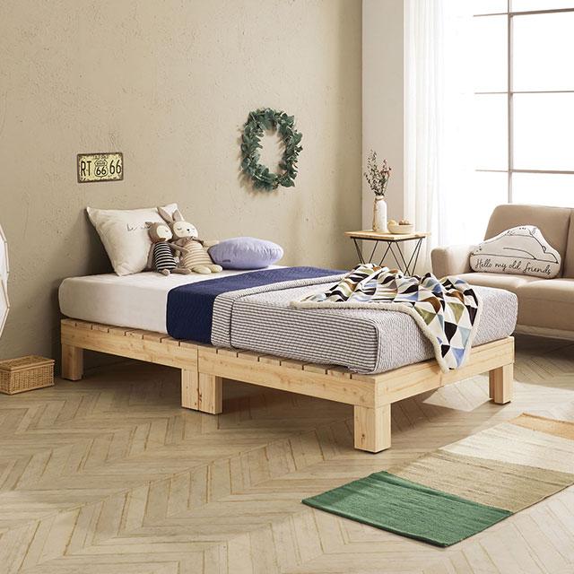 로미 평상형 편백나무 퀸 침대 TE264-2