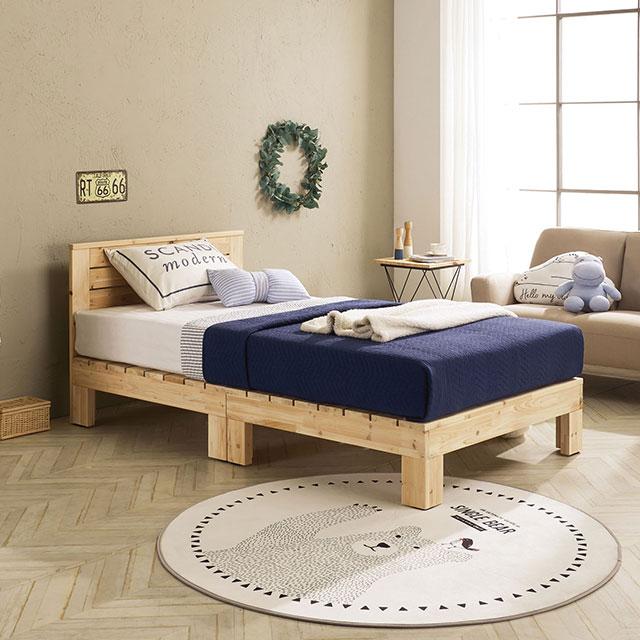 로미 머리판 삼나무 퀸 침대 TE265-1