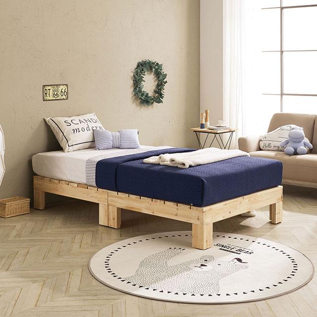 로미 평상형 삼나무 퀸 침대 TE265-2